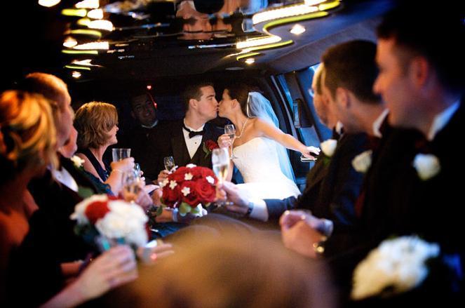 Ceremony, Reception, Flowers & Decor, Wedding Dresses, Fashion, white, red, dress, Limousine, A limo affair