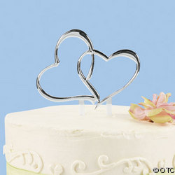 Reception, Flowers & Decor, Cakes, silver, cake, Topper