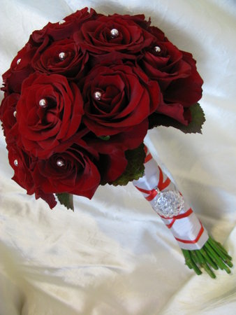 Ceremony, Reception, Flowers & Decor, white, red, black, Ceremony Flowers, Flowers