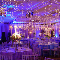 Reception, Flowers & Decor, blue, Lighting