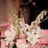 Reception, Flowers & Decor, Centerpieces, Centerpiece, Michaelangelo music djs custom lighting