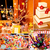 Inspiration, Reception, Flowers & Decor, Favors & Gifts, Cakes, red, green, brown, cake, Favors, Centerpieces, Centerpiece, Candy, Board, Barn, Buffet, Nestldown, Vases, La vie douce wedding consulting