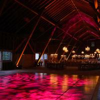 Reception, Flowers & Decor, pink, Lighting, Barn