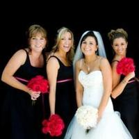 Flowers & Decor, Bridesmaids, Bridesmaids Dresses, Fashion, pink, black, Bridesmaid Bouquets, Flowers, And, Bouquets, Hot, Monday morning flowers, Flower Wedding Dresses