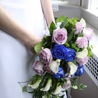 Flowers & Decor, purple, blue, Bride Bouquets, Flowers, Roses, Bouquet, And, Cascade, Lavender, Monday morning flowers