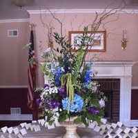 Reception, Flowers & Decor, blue, green, Flowers, Table, Card, Place, Inn, Monday morning flowers, Cranbury