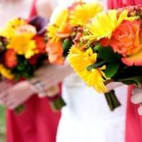 Flowers & Decor, Bridesmaids, Bridesmaids Dresses, Fashion, yellow, orange, brown, gold, Bride Bouquets, Bridesmaid Bouquets, Fall, Flowers, Fall Wedding Flowers & Decor, Wedding, Brides, Bouquets, Florist, Maids, Inn, Nassau, Monday morning flowers, Flower Wedding Dresses, Fall Wedding Dresses