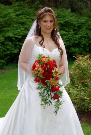 Flowers & Decor, red, Bride Bouquets, Flowers, Roses, Bouquet, Cascade, Soft, Ivy, Monday morning flowers