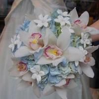 Flowers & Decor, Bridesmaids, Bridesmaids Dresses, Fashion, white, pink, blue, Bride Bouquets, Bridesmaid Bouquets, Flowers, Bouquet, Bridal, And, Monday morning flowers, Flower Wedding Dresses