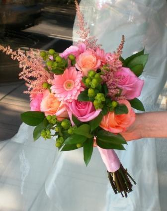 Flowers & Decor, Bridesmaids, Bridesmaids Dresses, Fashion, pink, Bride Bouquets, Bridesmaid Bouquets, Summer, Flowers, Bouquet, Bridal, And, Peach, Monday morning flowers, Flower Wedding Dresses, Summer Wedding Dresses