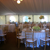 Reception, Flowers & Decor, orange, green, gold, Tables & Seating, Chiavari, Chairs