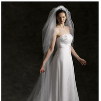 Veils, Fashion, white, Veil, Cathedral length veil