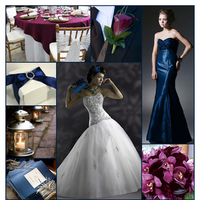 Inspiration, Flowers & Decor, Bridesmaids, Bridesmaids Dresses, Wedding Dresses, Stationery, Cakes, Fashion, red, purple, blue, cake, dress, Bridesmaid Bouquets, Invitations, Flowers, Board, Love by enzoani, Christina wu, Flower Wedding Dresses