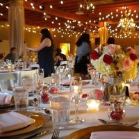 Reception, Flowers & Decor, ivory, pink, red, gold, Centerpieces, Candles, Flower, Centerpiece, Chandelier, Amber-lighting