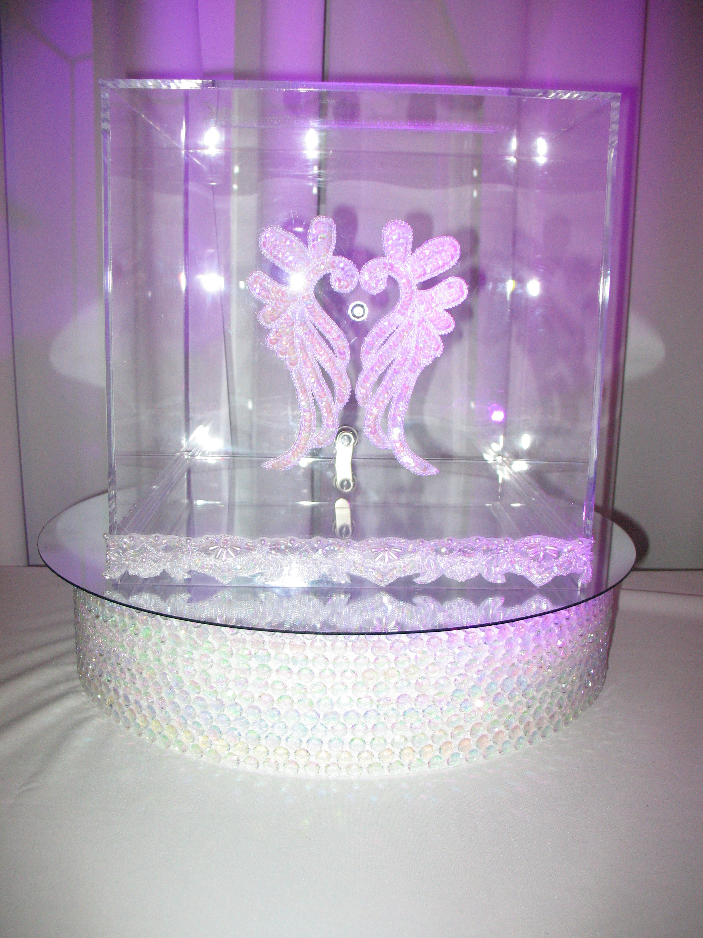 Reception, Flowers & Decor, white, silver, Box, Card, Money, Ice forest designz