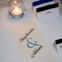Reception, Flowers & Decor, blue, brown, silver, Table, Card, Place