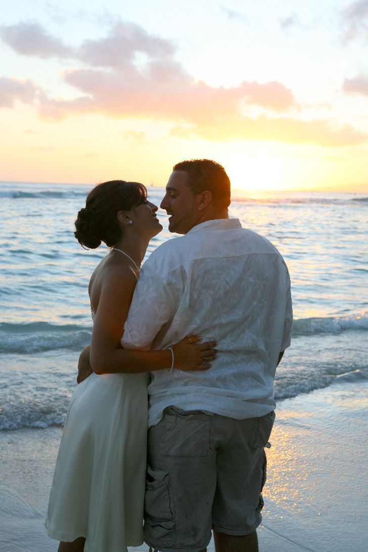 Ceremony, Flowers & Decor, Destinations, Hawaii, Beach, Beach Wedding Flowers & Decor, Wedding, Sunset, Trueglimpse photography