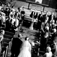 Ceremony, Flowers & Decor, white, black, Bride, Father, Church, Aisle, Daughter, Away, Giving, Pheifer photography llc