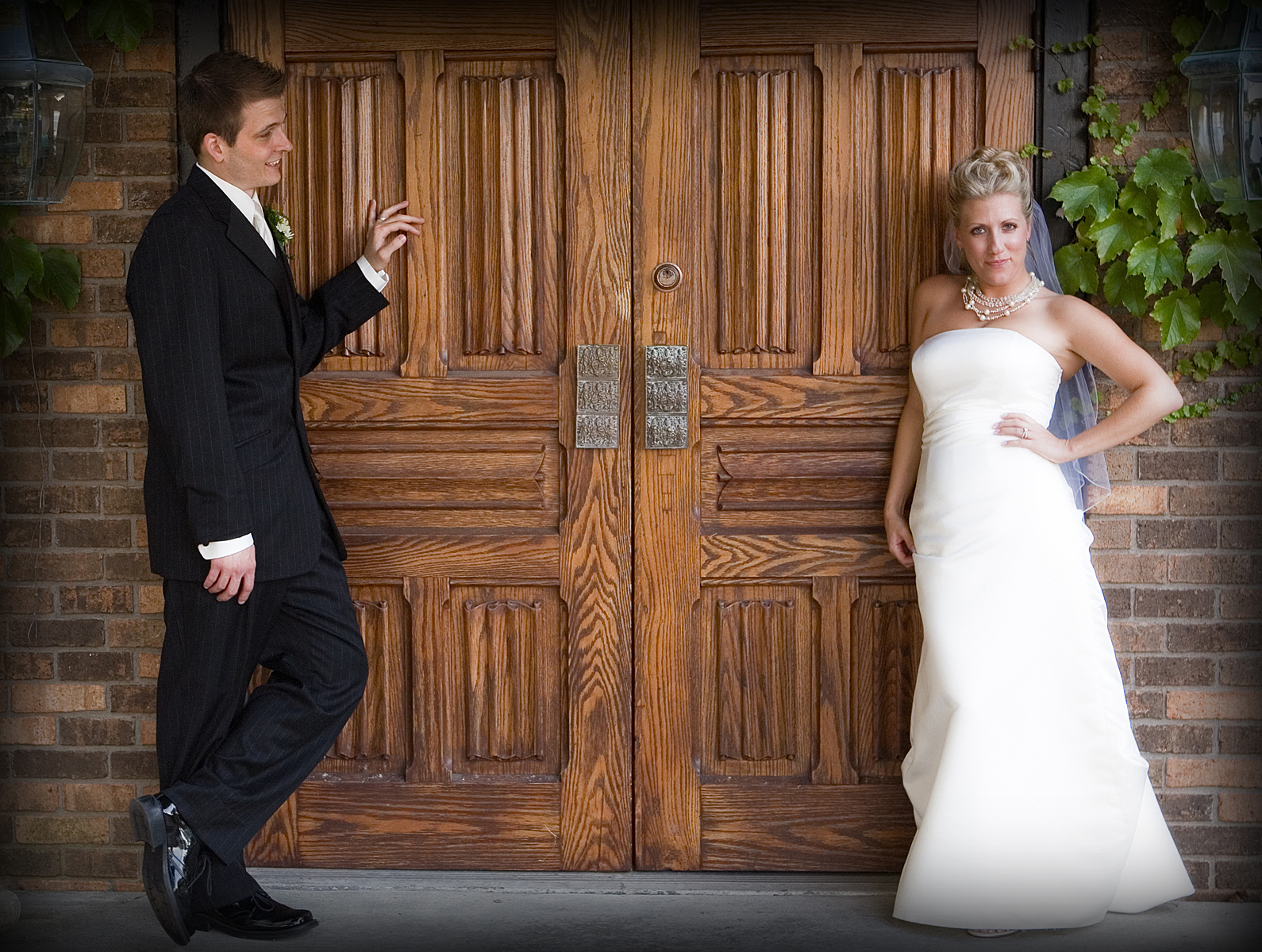 Ceremony, Flowers & Decor, Wedding Dresses, Fashion, dress, Summer, Bride, Outdoor, Groom, Door, Pheifer photography llc, Summer Wedding Dresses