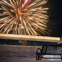 Reception, Flowers & Decor, Bride, Groom, Of, Couple, Night, July, Fireworks, Pheifer photography llc, 4th