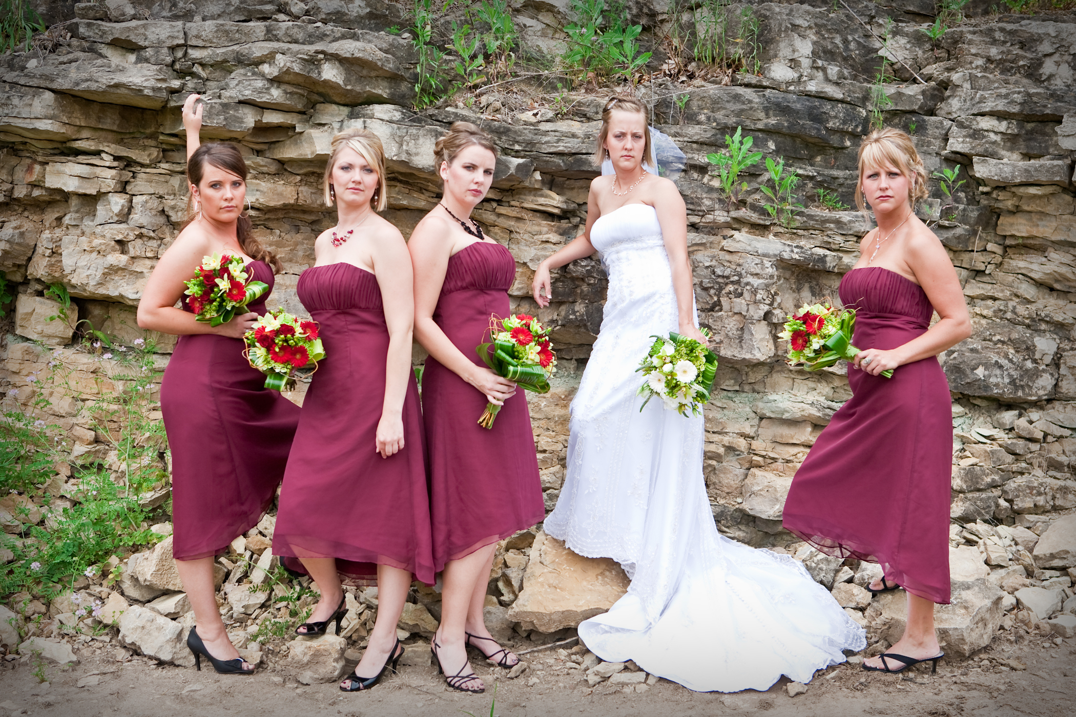 Bridesmaids, Bridesmaids Dresses, Fashion, Summer, Bride, Outdoor, Portraits, Group, Photos, Pheifer photography llc, Summer Wedding Dresses