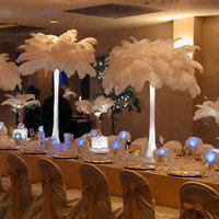 Beauty, Inspiration, Reception, Flowers & Decor, Feathers, Centerpieces, Flowers, Centerpiece, Vases