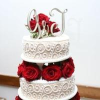 Reception, Flowers & Decor, Cakes, cake, Square Wedding Cakes, Square, Flowers, Roses