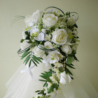 Flowers & Decor, white, Bride Bouquets, Flowers, Roses, Bouquet, Bridal, And, Orchids, Rainbow wedding flowers