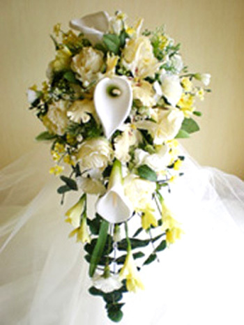 Flowers & Decor, white, ivory, yellow, Bride Bouquets, Flowers, Bouquet, Calla, Lilies, Bridal, Lemon, Shower, Freesia, Rainbow wedding flowers