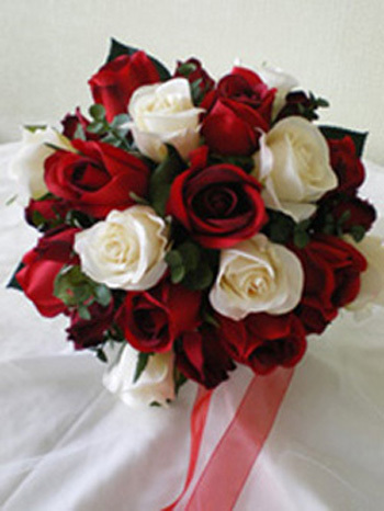 Flowers & Decor, white, ivory, red, Flowers, Classic Wedding Flowers & Decor, Roses, Of, And, Traditional, Posy, Rainbow wedding flowers