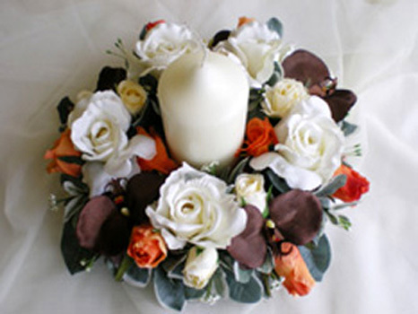 Ceremony, Reception, Flowers & Decor, white, orange, brown, Rainbow wedding flowers