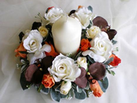 Ceremony, Reception, Flowers & Decor, white, orange, brown, Rainbow wedding flowers