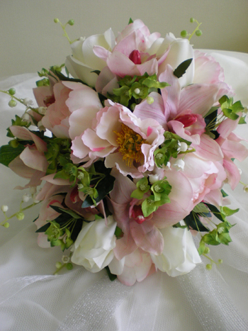 Flowers & Decor, pink, Flowers, Of, Bridal, And, Orchids, hand tied, Peonies, Posy, Rainbow wedding flowers