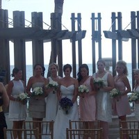 Ceremony, Flowers & Decor, Bridesmaids, Bridesmaids Dresses, Beach Wedding Dresses, Fashion, white, purple, silver, gold, Beach, Ceremony Flowers, Bridesmaid Bouquets, Flowers, Beach Wedding Flowers & Decor, Laras theme, Vero, Flower Wedding Dresses