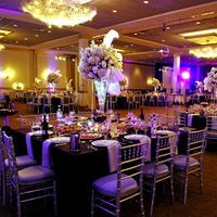 Reception, Flowers & Decor, white, red, purple, silver, Flowers, Belvedere banquets