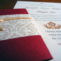Stationery, white, red, gold, invitation, Vineyard Wedding Invitations, Invitations, Wedding, Printing, Bamboo star studios