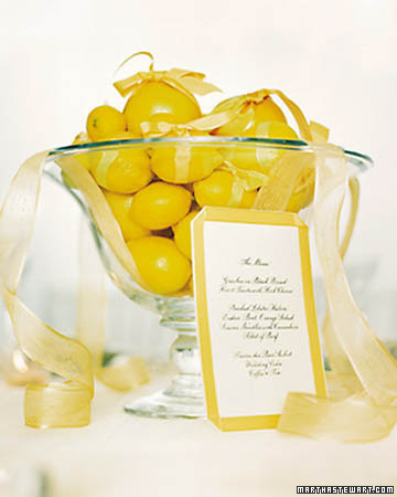 yellow, Centerpiece, Lemon