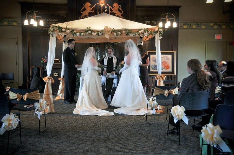 Ceremony, DIY, Flowers & Decor, ivory, gold, Chuppah, Jewish, Canopy