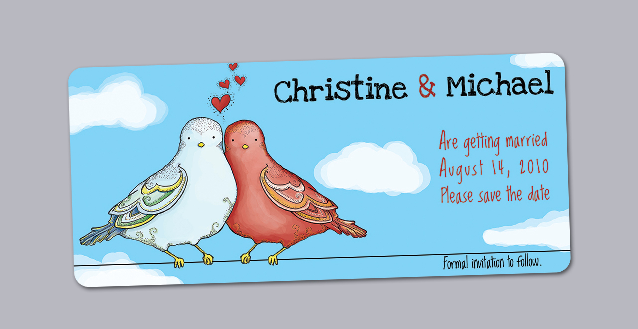 Stationery, blue, invitation, Invitations, Birds, Unique, The, Save, Date, Love, Felice design, Illustrated