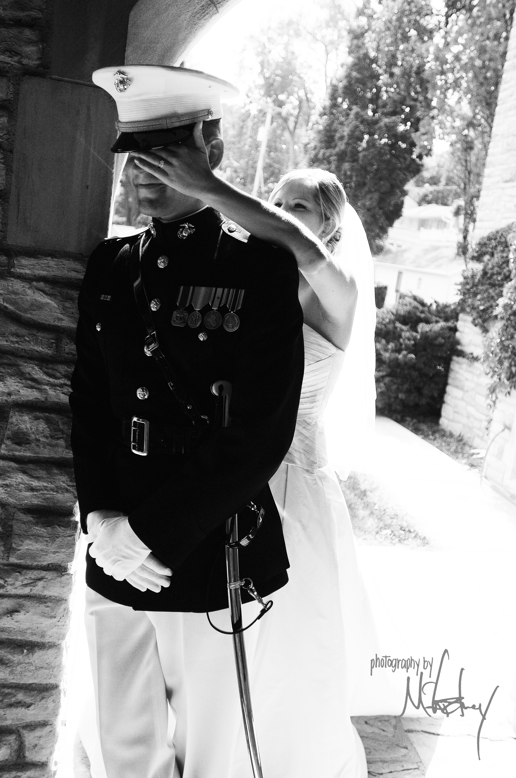 white, black, Bride, Groom, Marine, First meeting, Meet, Photography by mccartney, Sneaky, Sneak