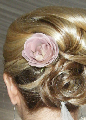 Beauty, Flowers & Decor, pink, Flower, Hair, Bridal, With, In, It, Bridesmaid beautiful