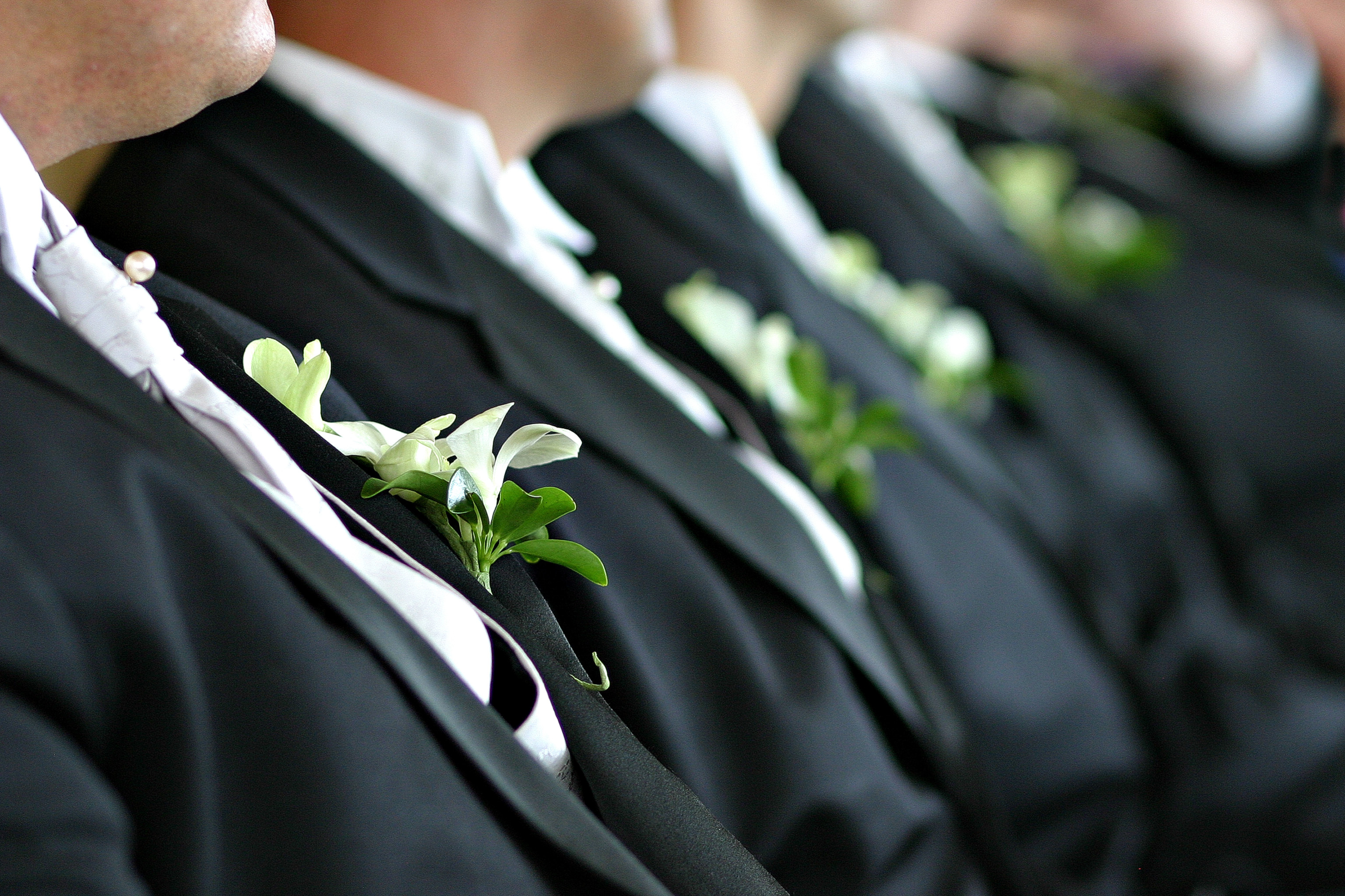 Ceremony, Flowers & Decor, black, Ceremony Flowers, Boutonnieres, Flowers, Groom, Boutonniere, Mark zelinski photography