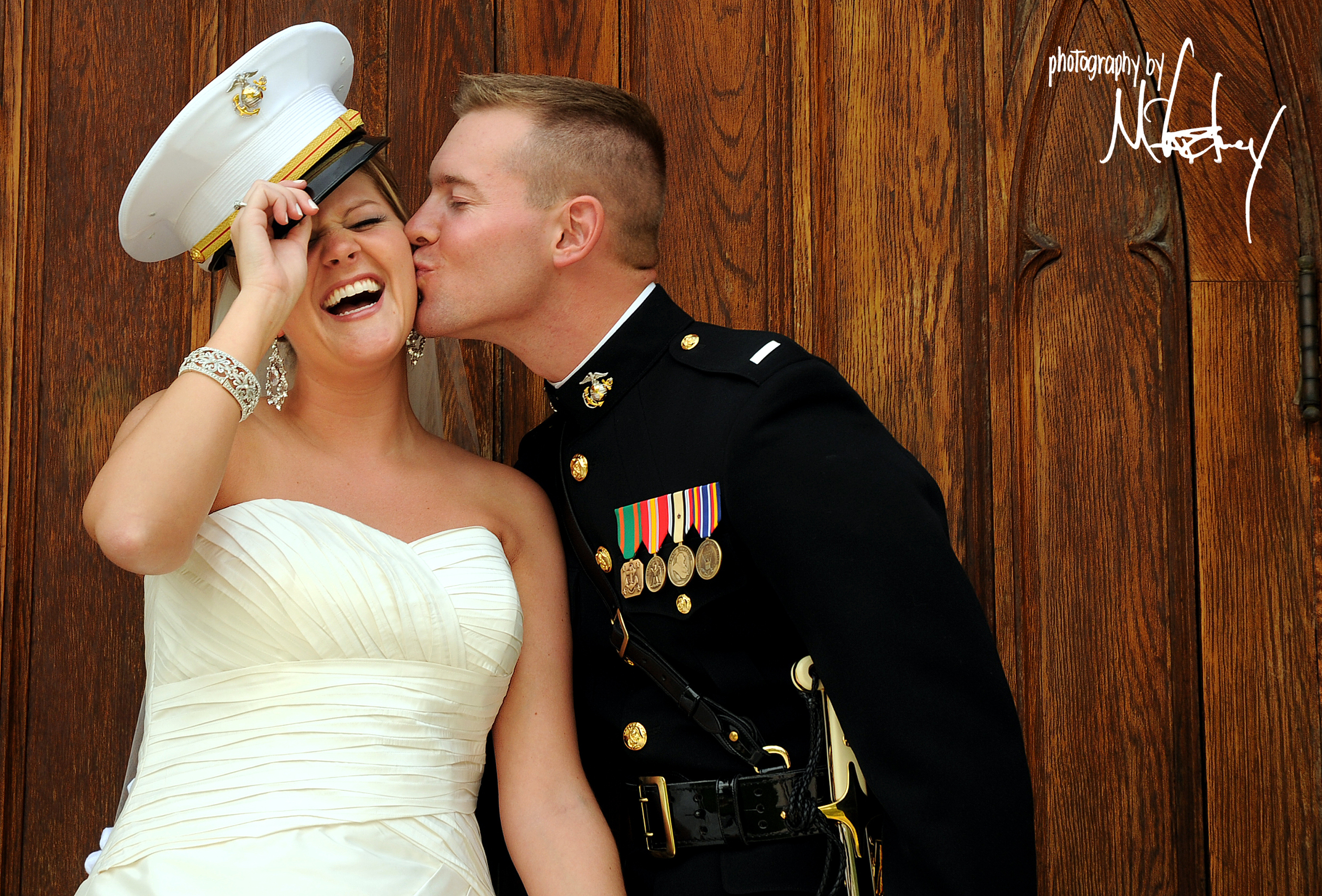 Wedding Dresses, Fashion, white, blue, green, dress, Bride, Groom, Kiss, Military, Military wedding, Minnesota, Marine, Marines, Fall wedding, Mn, Photography by mccartney