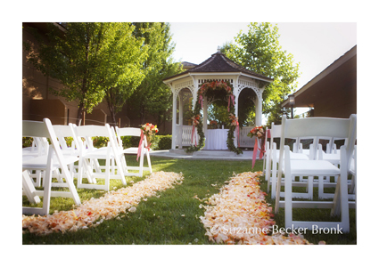 Ceremony, Flowers & Decor, white, yellow, orange, pink, Ceremony Flowers, Aisle Decor, Tables & Seating, Flowers, Wedding, Gazebo, Grass, Peach, Chairs, Aisle, Rose petals, Suzy berberian, a dream day
