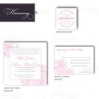 Stationery, pink, invitation, Invitations, Theme, Peony, Belletristics