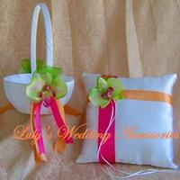 Ceremony, Flowers & Decor, orange, pink, green, Spring, Summer, Wedding, And, Colors, Fuschia, Hot, Lulys wedding accesories
