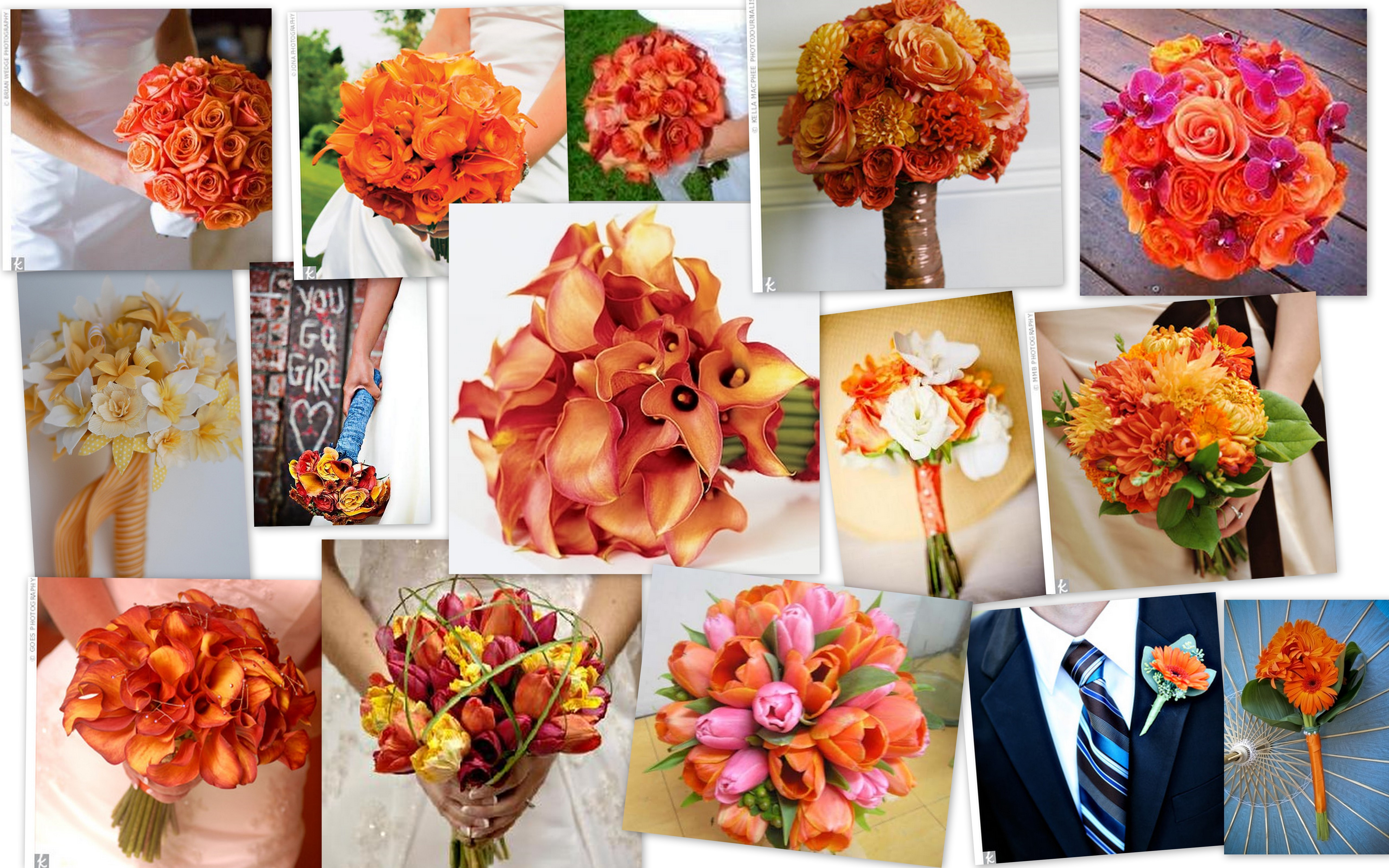 Flowers & Decor, orange, Bride Bouquets, Flowers, Bouquet, Inspiration board