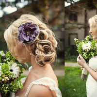 Beauty, Flowers & Decor, purple, Bride Bouquets, Bride, Flowers, Hair, Hairstyle, Marianne wilson photography