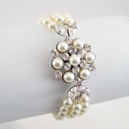 Jewelry, white, silver, Bracelets, Bracelet, Lulusplendor