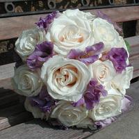 Flowers & Decor, Bridesmaids, Bridesmaids Dresses, Fashion, white, purple, Bridesmaid Bouquets, Flowers, Flower Wedding Dresses